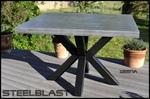 table haute beton cire