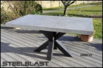 table haute beton cire weena steelblast.fr