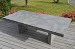 table haute beton cire gris clair