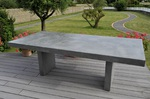 table haute beton cire deux pieds